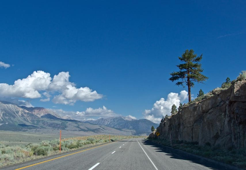 Sur la route de Mono Lake