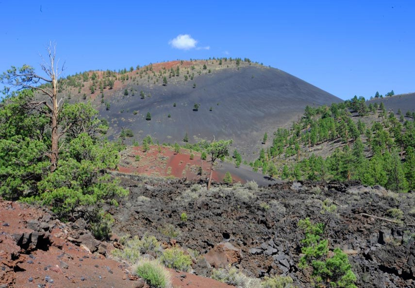 Flagstaff et le Sunset Crater Volcano